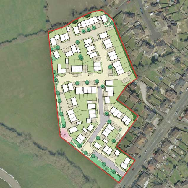 Croft Road planning application layout