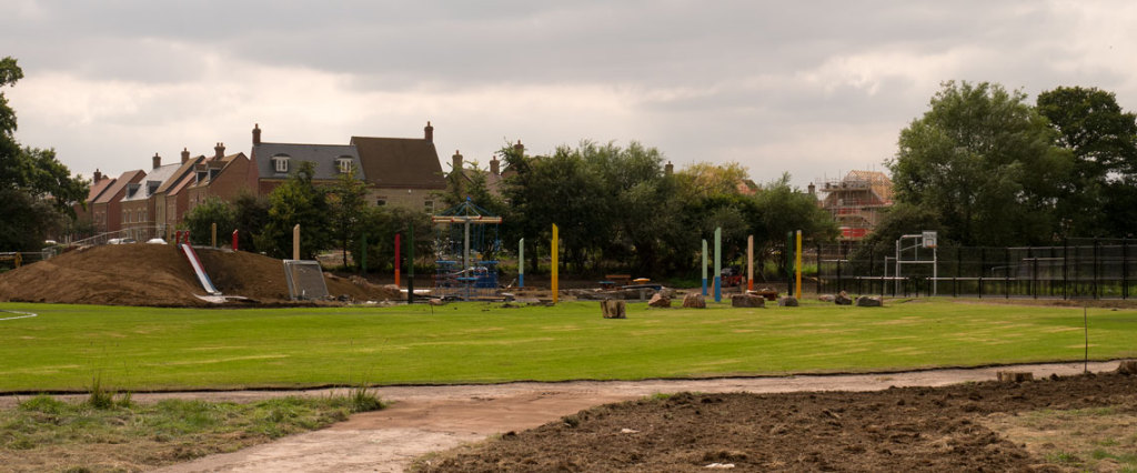 Play area looking south