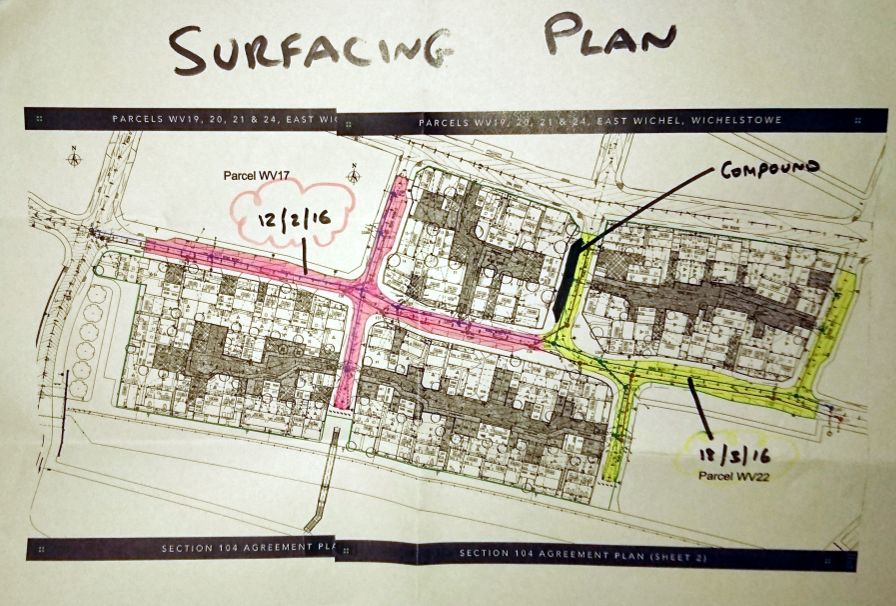 4 roads to be surfaced for Barratt Homes