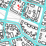 Close-up of parking zone map