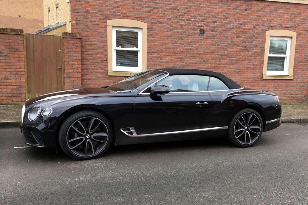 Bentley car abandoned in East Wichel