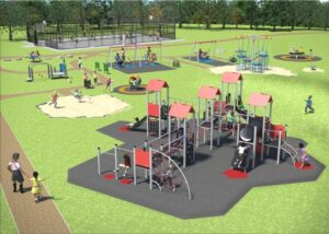 Artist's impression of play area
